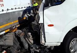 Park halindeki TIRa çarptı Korkunç kaza
