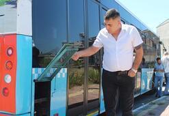 Yolcu otobüsünün 2 aküsü çalındı