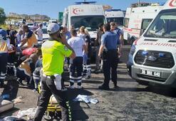 Son dakika... Ankarada feci kaza Çok sayıda yaralı var