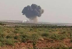İdlibde savaş uçağı düşürüldü