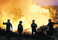 Komşunun adası cayır cayır yanıyor