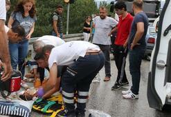 Boluda otomobille TIR çarpıştı: 6 yaralı