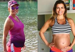 6.5 aylık hamile Ece Vahapoğlu: 60 kilo oldum