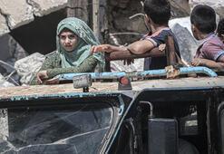 124 bin sivil Türkiye sınırında