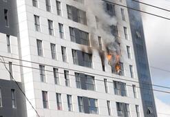 Son dakika | Ümraniyede 16 katlı binada yangın