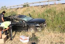Otomobil şarampole devrildi Ölü ve yaralılar var