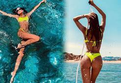Izabel Goulart hem tatil yapıyor hem para kazanıyor