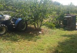 İşçileri taşıyan traktör devrildi: 1 ölü, 13 yaralı