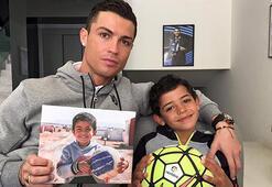 Ronaldo antrenmanı oğluyla yaptı