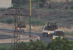 Sınırdan sıcak görüntü İçinde 50 terörist olan 3 kamyonet...