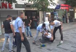 Taksim Talimhanede meydan kavgası kamerada
