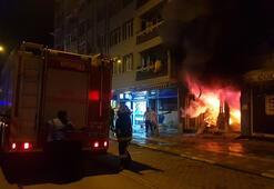 Bursada iş yeri yangını