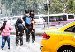 Çok hücreli fırtına İstanbulu vurdu