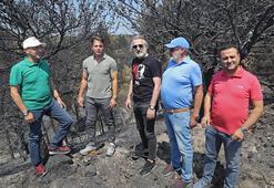 Göztepe yangın bölgesinde
