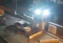 Polis merkezi önündeki silahlı kavga kamerada