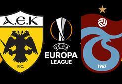 AEK Trabzonspor maçı ne zaman saat kaçta hangi kanalda canlı yayınlanacak İlk 11ler...