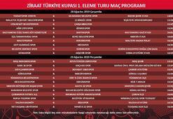 Ziraat Türkiye Kupası 1. tur programı açıklandı