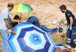 Şemsiyeyle önlem aldılar
