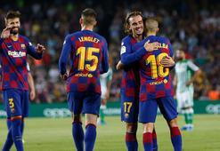Messisiz Barcelonayı Griezmann sırtladı 7 gollü maç...