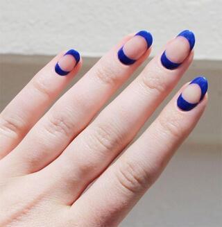 Birbirinden tarz minimalist manikür uygulamaları