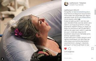 Doğum fotoğraflarını paylaştı