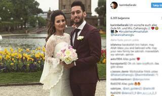 Yıldız futbolcu Hakan Çalhanoğlu evlendi