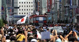 Tokyoda yarım milyonluk karşılama