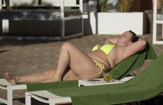 İspanya tatilinde görüntülendi