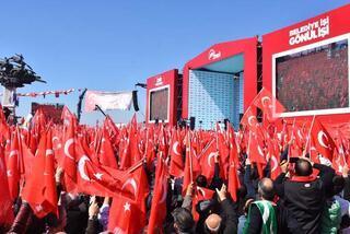 AK Parti ve MHP ilk ortak mitingini İzmirde yaptı