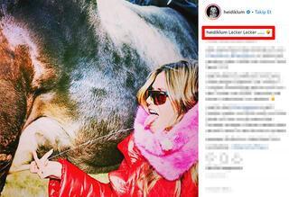 Heidi Klumun fotoğrafı hayranlarını adeta ikiye böldü