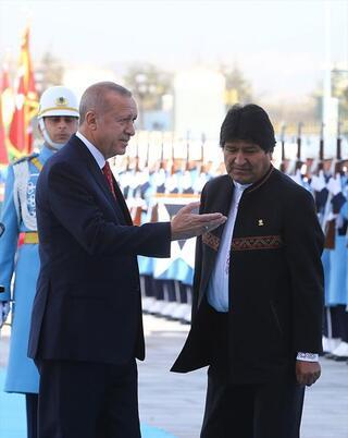 Bolivya Devlet Başkanı Eva Morales Türkiyede