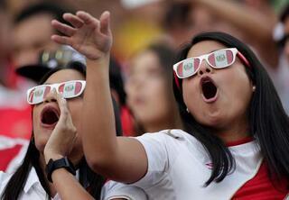 Copa Americada tribünlerden renkli kareler