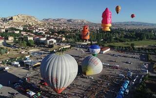 Kapadokyada uluslararası balon festivali