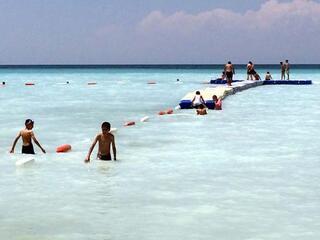 Denize kıyısı olmayan plaja büyük ilgi
