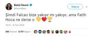 Betül Demirden Falcao ve Galatasaray paylaşımı