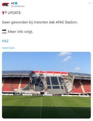 AZ Alkmaara şok Stat çatısı çöktü...