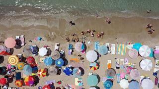 Aydın sahillerinde bayram yoğunluğu