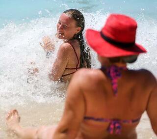 Kaputaş Plajına turist akını