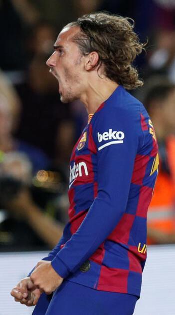 Messi'siz Barcelona'yı Griezmann sırtladı! 7 gollü maç...