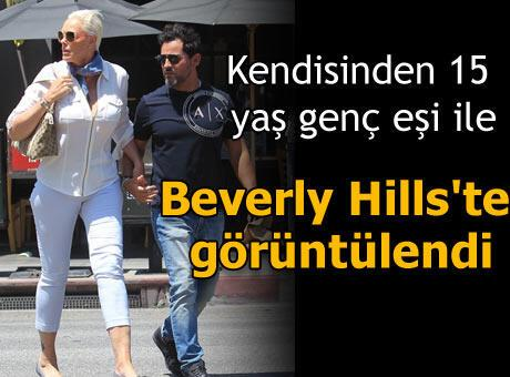 Beverly Hills'te görüntülendi