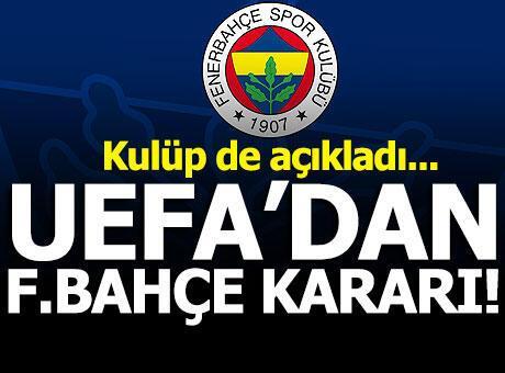 Fenerbahçe'ye men yok