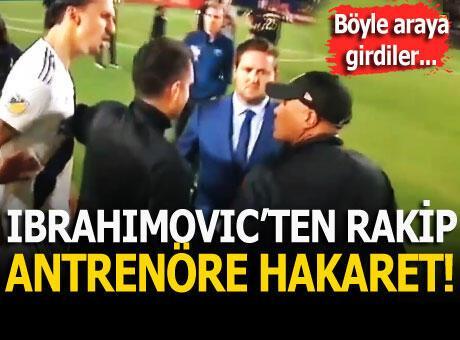 Ibrahimovic ile rakip antrenör arasında gerilim!