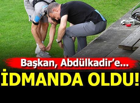 Ahmet Ağaoğlu'ndan Abdülkadir'e ayakkabı desteği