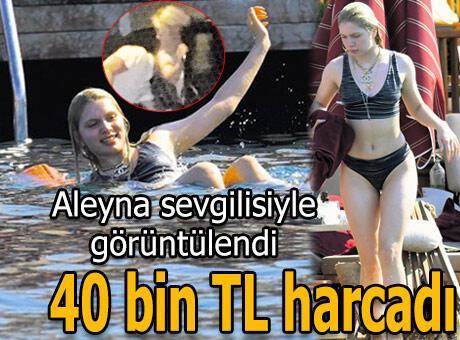 Aleyna Tilki, Bodrum'da aşka kulaç attı!