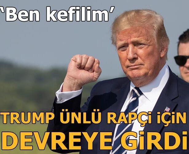 Trump ünlü rapçi için devreye girdi