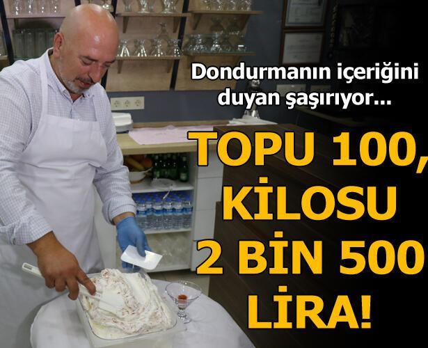 Bir topu 100 lira!
