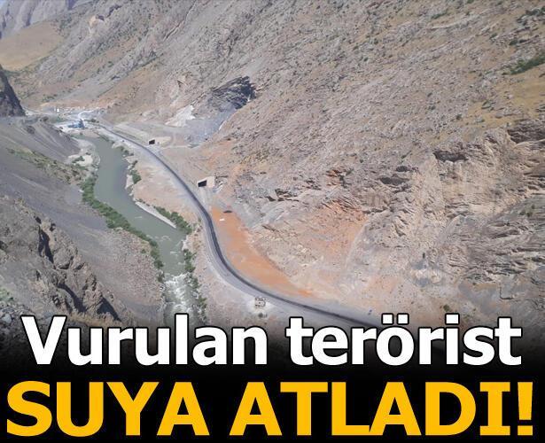 Çatışmada yaralanan terörist Zap Suyu'na atladı
