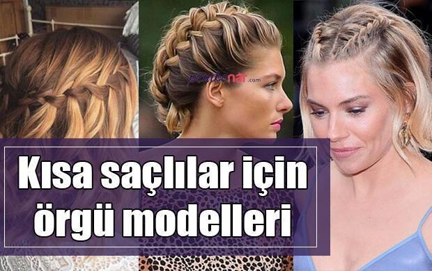 Kısa saçlar için örgü modelleri