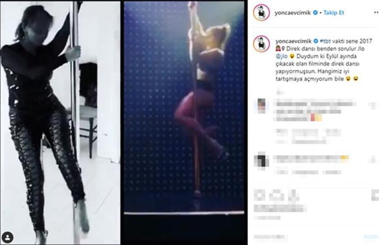Yonca Evcimik'ten Jennifer Lopez'e direk dansı göndermesi