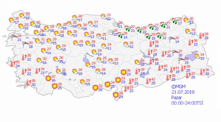 Pazar günü hava durumu nasıl olacak Meteorolojiden son tahminler...